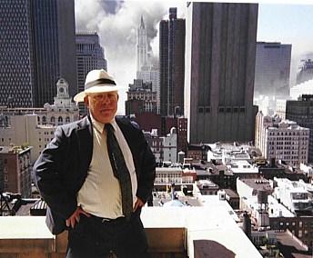 Bedein in Manhattan on the fateful day
