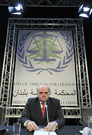 Daniel Bellemare, the Canadian prosecutor who heads the Special Tribunal for Lebanon, attends its opening ceremony in The Hague in March 2009. (Michael Kooren/Reuters)