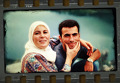 Capt. Wissam Eid with his mother, Samira, from a video his brother made when the two brothers sensed his days might be numbered. (CBC)