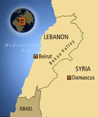 Lebanon map.