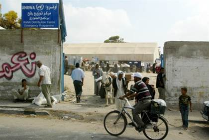 UNRWA in Refugee Camp
