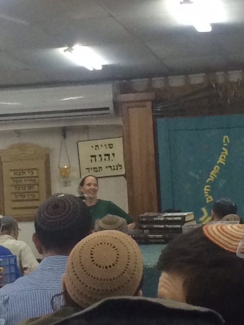 Rachel Frankel, mother of Naftali z'l speaking tonight in the Beit Midrash of Makor Chaim Yeshiva