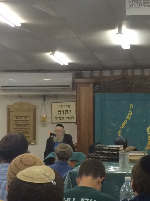 Rav Steinsaltz at Makor Chaim Yeshiva tonight