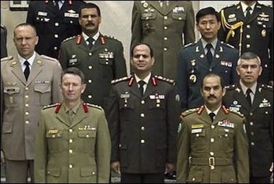 Brig. Gen. Abdel Fattah al-Sisi (center) in a 2006 group picture of the International Fellows class at the U.S. Army War College in Carlisle, Pennsylvania.