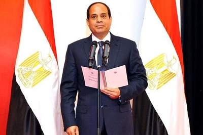 The newly-inaugurated President Abdel Fattah Al-Sisi on June 8, 2014.