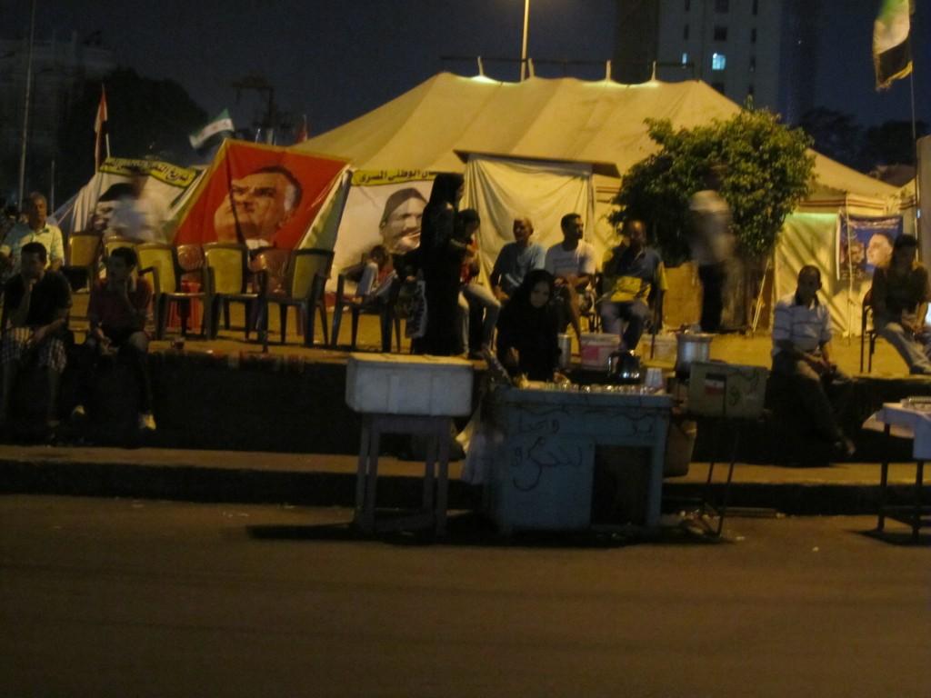 Cairo's Tahrir Square at night