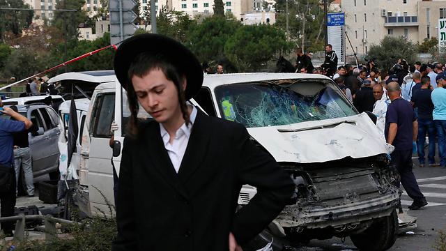 Scene of terrorist attack in Jerusalem (Photo: Reuters)