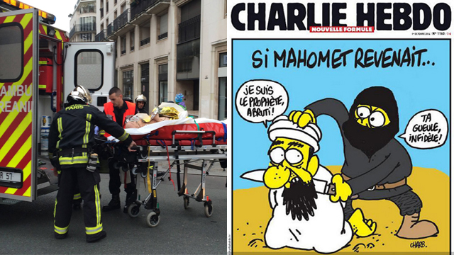 Attack against Charlie Hebdo newspaper. 'If the free world is so corrupt, if it doesn't care about Muslim life, and if, in addition, it mocks Prophet Muhammad – then this attack is completely justified' (Photo: AFP)