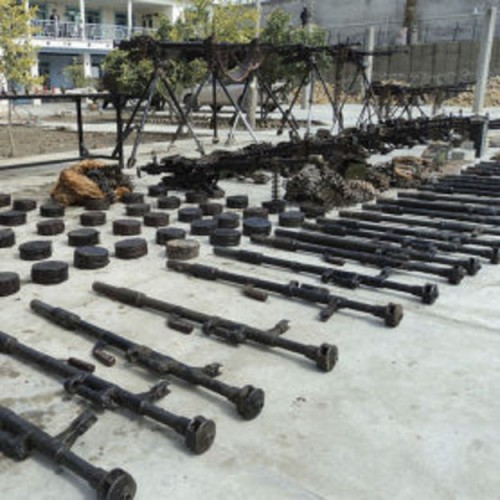 Iranian weapons recovered in an ISAF raid on 5 February 2011 in Nimruz province, Afghanistan.