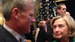 Michael Oren with Hillary Clinton, December 2014  (Facebook)
