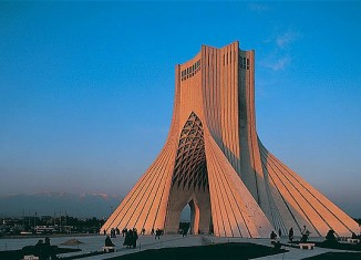 The Azadi Tower in Tehran, Iran's capital city