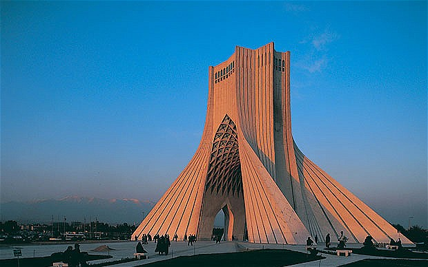 The Azadi Tower in Tehran, Iran's capital city