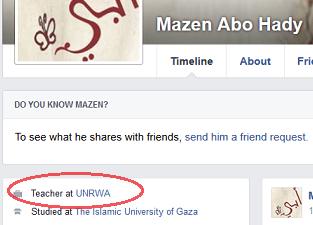 Mazen Abo Hady - FB profile UNRWA link