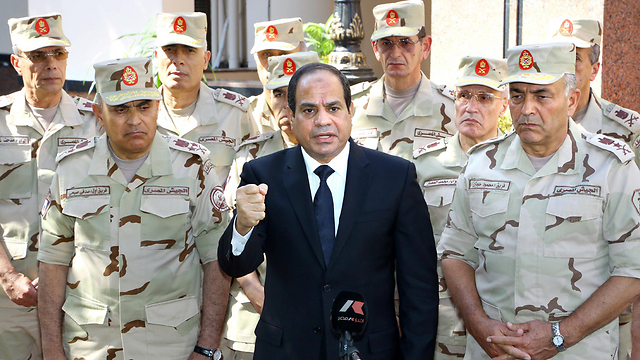 Egyptian President al-Sisi. Dealing with operations against Egyptian government facilities, sometimes on a weekly basis (Photo: AFP)