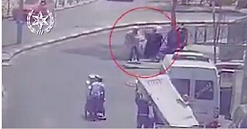 el atentado documentado en el vídeo de las cámaras de seguridad (página Facebook de la Policía de Israel, 12 de agosto de 2017)