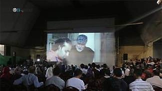 espectadores durante la proyección de la película (Palsawa, 26 de agosto de 2017)