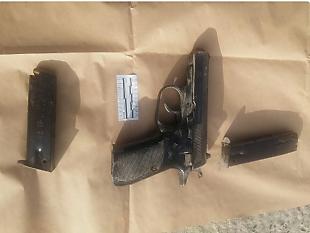 la pistola con la que perpetró el ataque de disparos (Policía de Israel, 26 de septiembre de 2017)