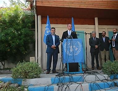 Nikolay Mladenov en la conferencia de prensa en Gaza (Ma'an, 25 de septiembre de 2017).