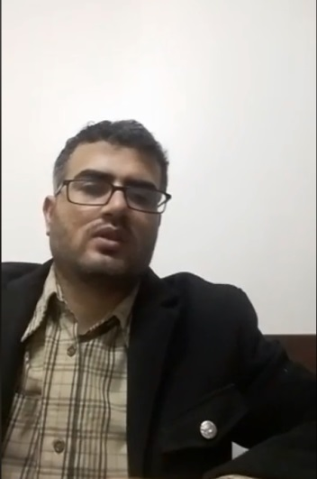 Ahmed Abu Artima in a video from his Facebook page, in which he gives details about the march (Facebook page of Ahmed Abu Artima, March 3, 2018).