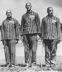 "Pictures included in an appeal for Nazi concentration camp suits (Facebook page of ""the great return march,"" February 25, 2018)."